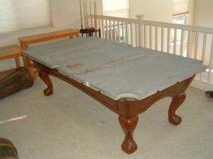 Proper pool table moving process in Winchester Virginia